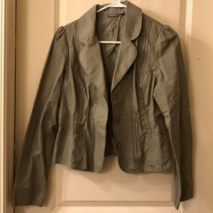 Sage green spring and fall jacket